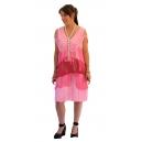 Robe charleston à fil rose