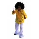Chemise jaune jabot disco