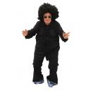 Chemise jabot disco noire