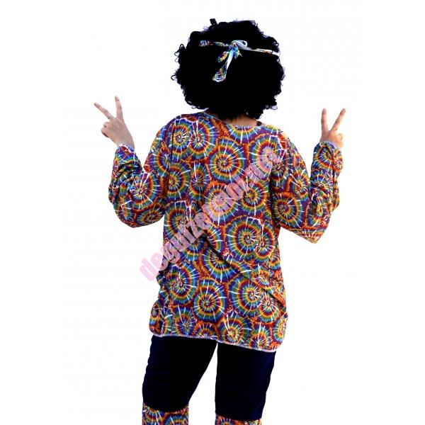 Costume et d guisement en location de tenue hippie color e donnezac en haute gironde - Tenue hippie homme ...