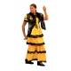 Robe flamenco jaune et noire