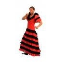 Robe flamenco rouge et noire