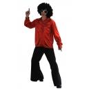 Chemise lamée rouge disco