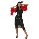 Robe charleston noire - Flapper girl