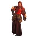 Robe comtesse médiévale velours rouge