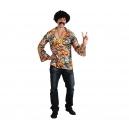 Chemise hippie homme ronds psyché