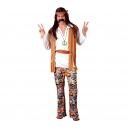 Hippie homme marron et blanc