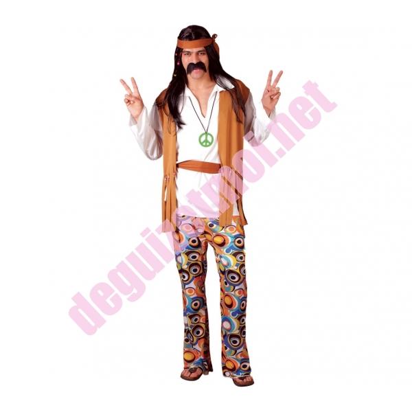Location d guisement et costume de hippie homme marron et blanc donnezac haute gironde - Tenue hippie homme ...