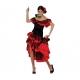 Espagnole Flamenco rouge et noir XL