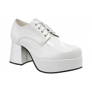 Chaussures plateforme disco homme blanche