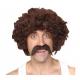 Perruque disco avec moustache