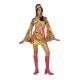 Tunique hippie 70' ceinture rose