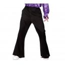 Pantalon disco pattes d'eph noir