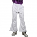 Pantalon disco pattes d'eph blanc