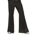 Pantalon disco pattes d'eph noir et argent