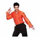 Chemise orange jabot disco
