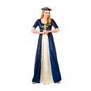 Robe médiévale bleu et or
