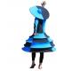 Robe funky bleue et noire - Poupée