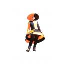 Robe funky orange et noire - Poupée