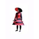 Robe funky rouge et noire - Poupée